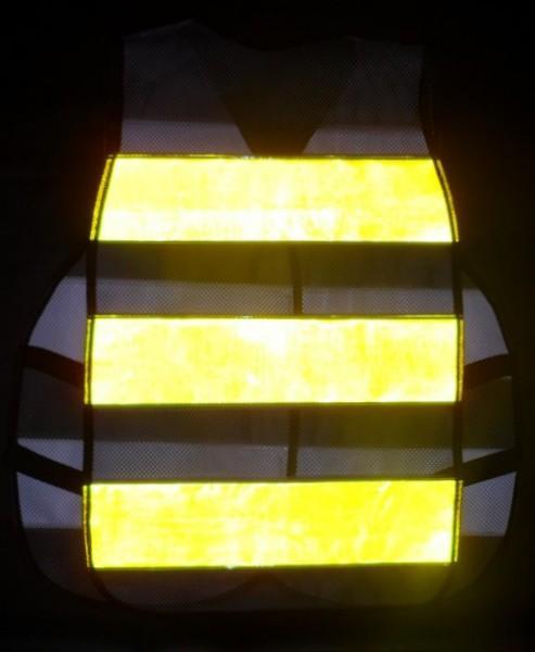 colete refletivo tipo blusão Amarelo-Fluorescente
