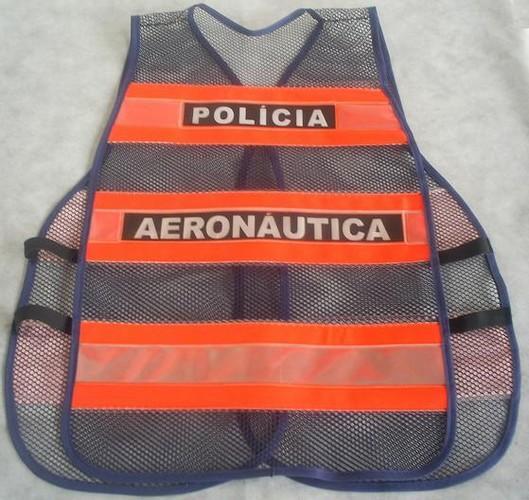 """alt=""""imagem de colete refletivo da policia da aeronautica"""""""