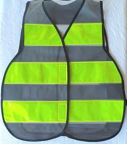 colete refletivo amarelo-fluorescente