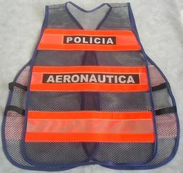 colete refletivo da polícia da aeronáutica
